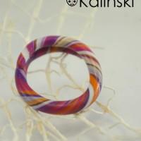Ръчно изработен пръстен-бяло оранжево лилаво