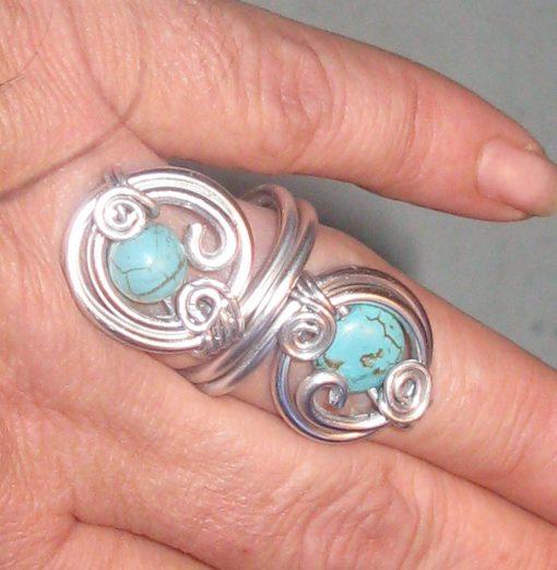 Ръчно изработен пръстен с Тюткоаз