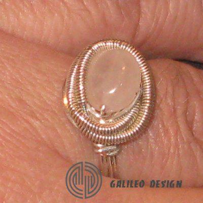 Ръчно изработен пръстен с Розов Кварц