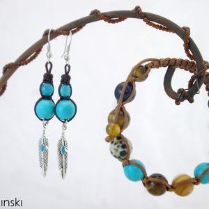 Комплект Шамбала - Етно - естествени камъни