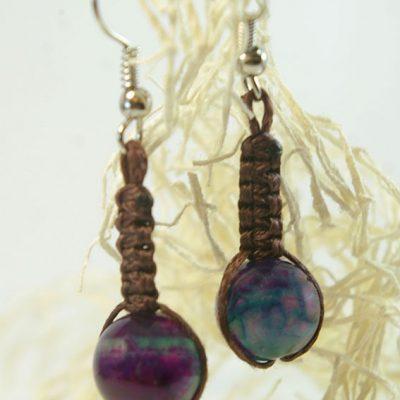 обеци с естествени камъни ахат