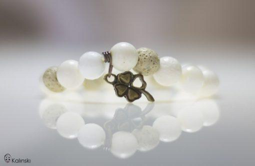 Гривна естествени камъни: Лава, Седеф, Бял Корал и Ахат