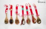 Интересни ръчно изработени мартеници лъжички боб люта чушка