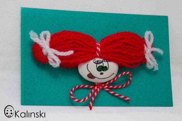 Интересни ръчно изработени мартеници от бобени зърна - Пипи Дългото Чорапче