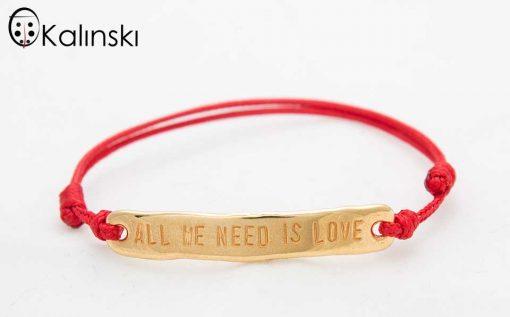 """Гривна против уроки с надпис """"All we need is Love"""""""
