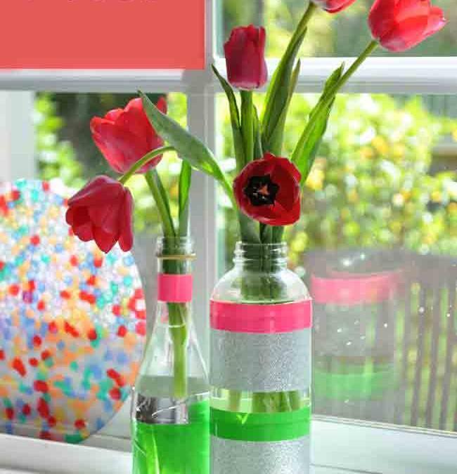 Как да си направите пролетни вази от старите и ненужни бутилки